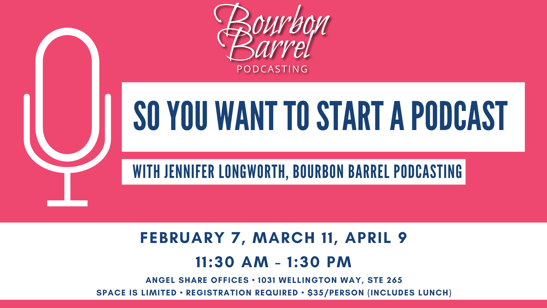 SO You want to Start a Podcast with Jennifer Longworth, Bourbon Barrel Podcasting